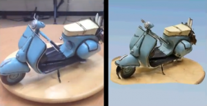 Model of Vespa being captured with 123d Catch